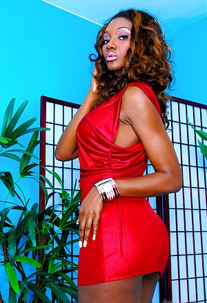 Ebony in Skirt Pictures